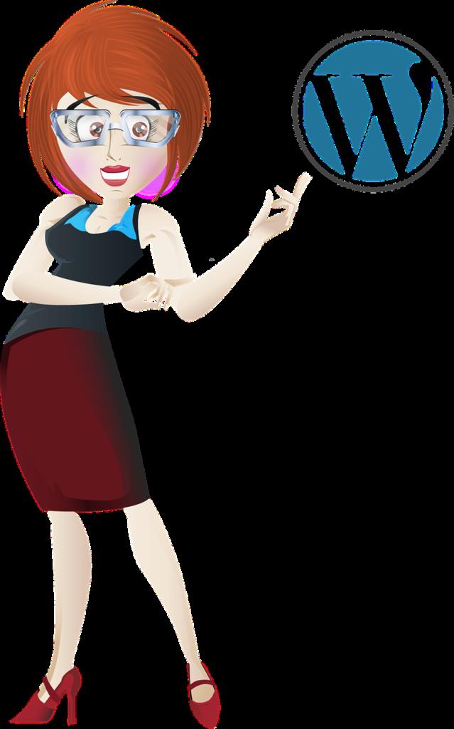 WordPress Woman Cartoon